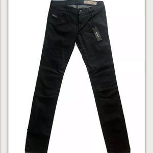 Diesel Womens Charcoal Grupee RS002 Slim Jeans